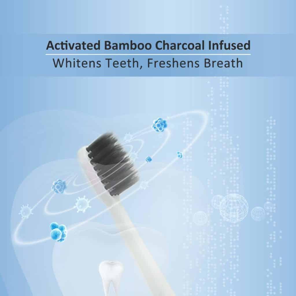 cepillo dental con carbón activado