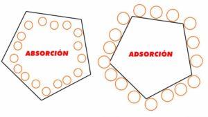 diferencias entre absorcion y adsorcion